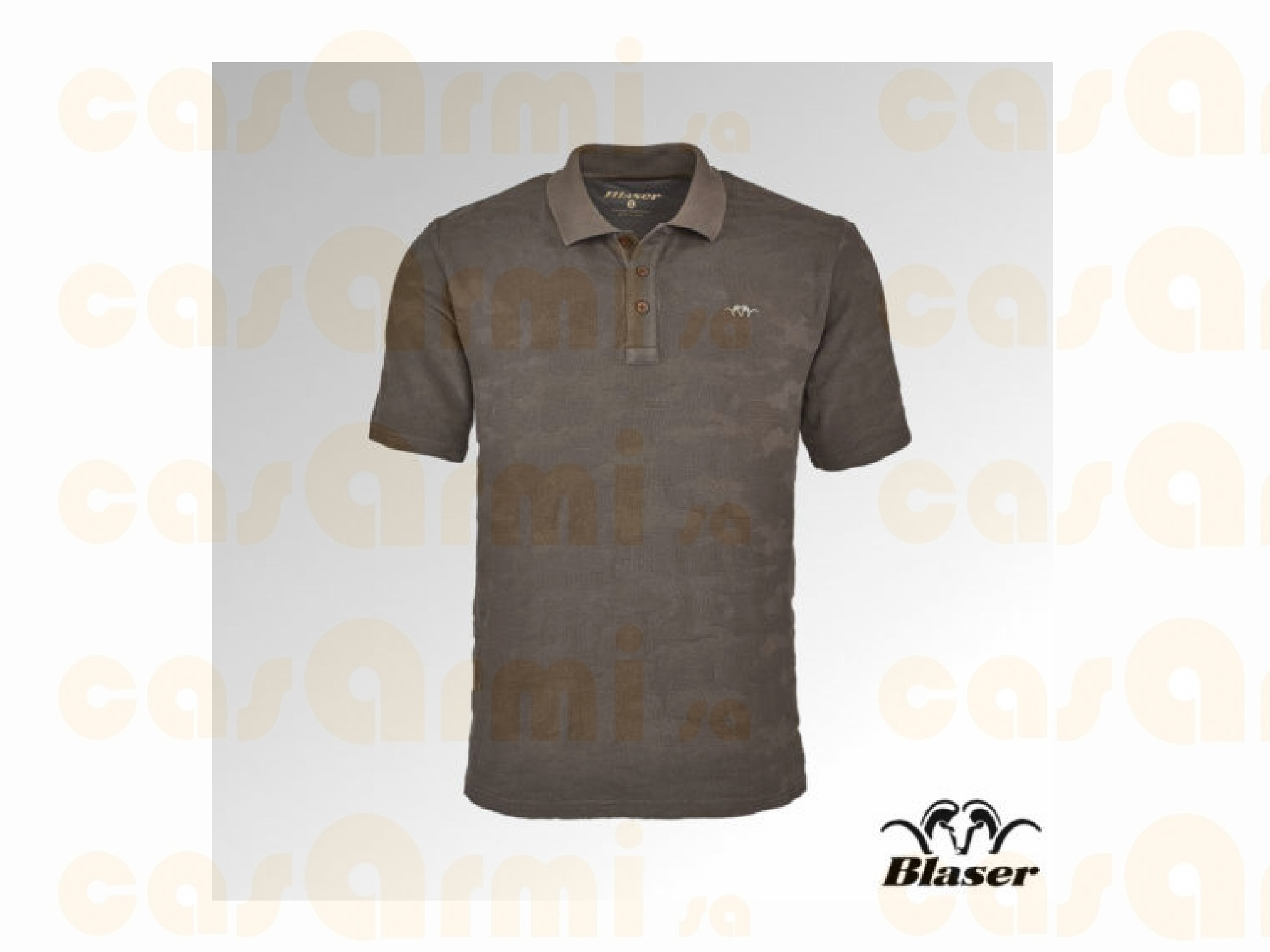 Polo Jaquard marrone tg. XXL