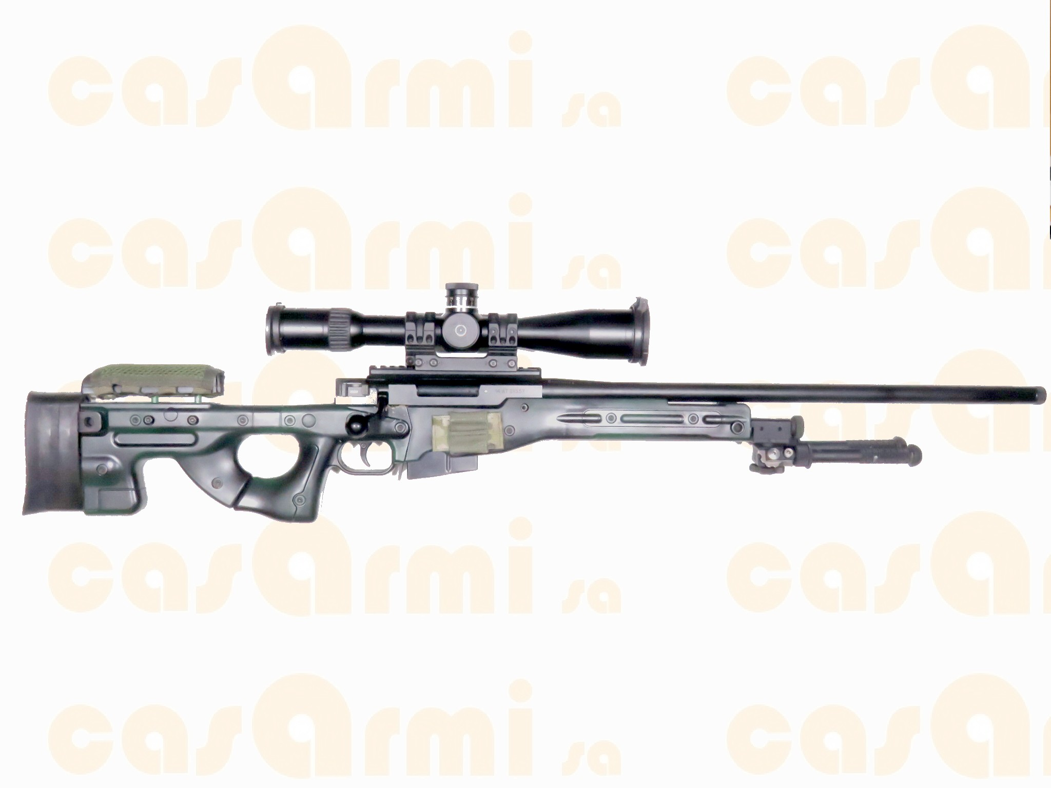 Mod. AT308  SENZA OTTICA  bipiede Atlas  seconda canna in cal. 6.5x47 Lapua